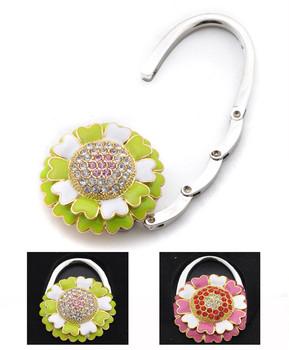 Rhinestone Stigma Flower Folding Hanging Hook Y11017