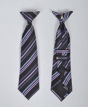 Boy's Microfiber Woven Clip On Tie MPBC2002