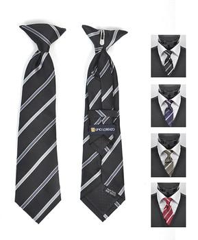 Boy's Microfiber Woven Clip On Tie MPBC2003