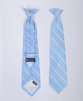 6pc Pre-Pack Boy's Microfiber Woven Clip On Tie MPBC4852