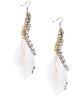 Dangle Earrings Feathers - IME12036W