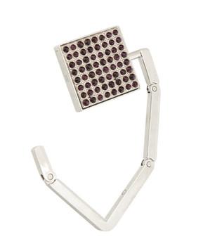 Garnet Color Crystal Swirl Folding Purse, Bag and Scarf Hanging Hook K093468