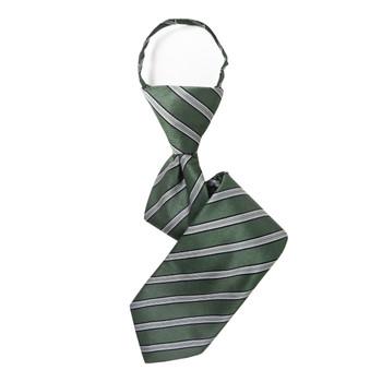 """Boy's 14"""" Striped Sage Zipper Tie"""