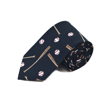 Baseball Black Novelty Tie