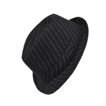 6pc Boy's Chalk Stripe Trilby Fedora Hats