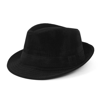 6pcs Two Sizes Boy's Fall/Winter Corduroy Fedora Hats - BF0334