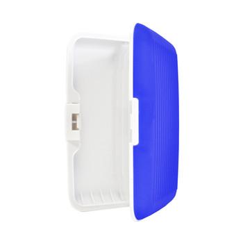 Card Guard Blue Silcone Rubber Non-Slip Compact Card Holder