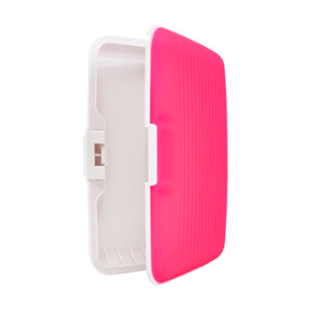 Card Guard Hot Pink Silcone Rubber Non-Slip Compact Card Holder
