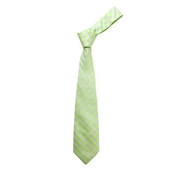 """Boy's 49"""" Shadow Stripes Green Fashion Tie"""