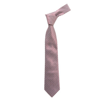 """Boy's 49"""" Hounds Tooth Red Fashion Tie"""