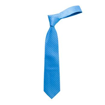 "Boy's 49"" Basket Woven Pattern Turquoise Fashion Tie"
