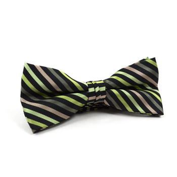 12pc Assorted Men's Stripe Pattern Poly Woven Banded Bow Ties FBB-STP