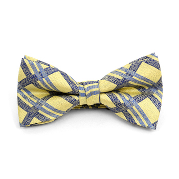 12pc Prepack Assorted Plaid Pattern Poly Woven Banded Bow Ties FBB-PLD