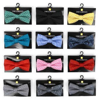12pc Prepack Assorted Men's Paisley Pattern Poly Woven Banded Bow Ties FBB-PSY