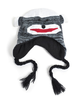 Knit Grey Monkey Animal Hats - AHN011126