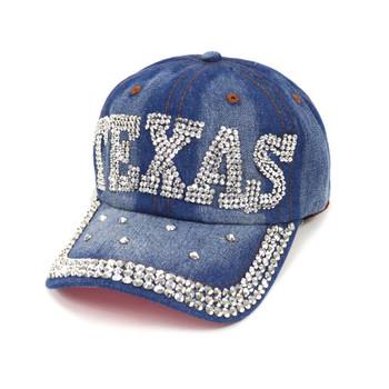 "Bling Studs ""Texas"" Denim Cap, Hat"
