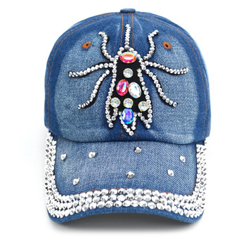 "Bling Studs ""Insect"" Denim Cap"