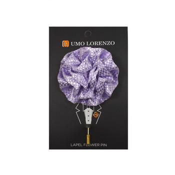 Lavender Poly Flower Lapel Pins