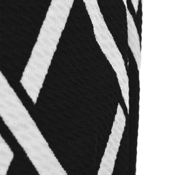 12pc Stripe Print Black & White Harem Pants
