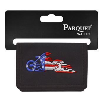 6pc Men's Polyester Tri-fold Velcro Wallets MW10105