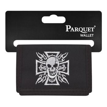 6pc Men's Polyester Tri-fold Velcro Wallets MW10108