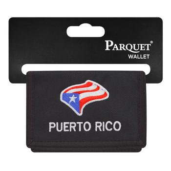 6pc Men's Polyester Tri-fold Velcro Wallets MW10109