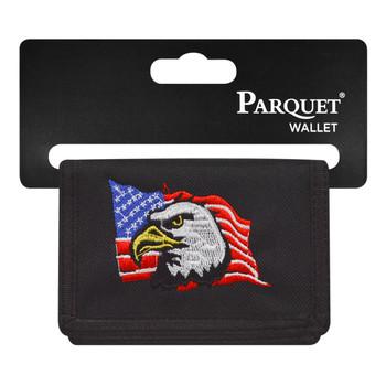 6pc Men's Polyester Tri-fold Velcro Wallets MW10119