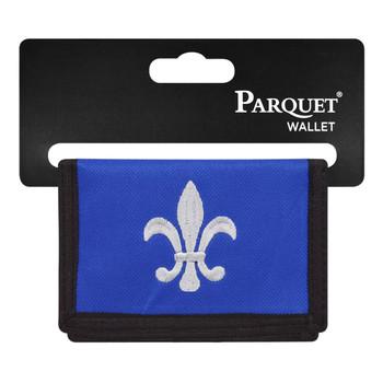 6pc Men's Polyester Tri-fold Velcro Wallets MW10123