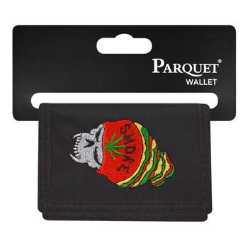 6pc Men's Polyester Tri-fold Velcro Wallets MW10125