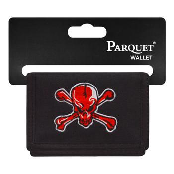 6pc Men's Polyester Tri-fold Velcro Wallets MW10126