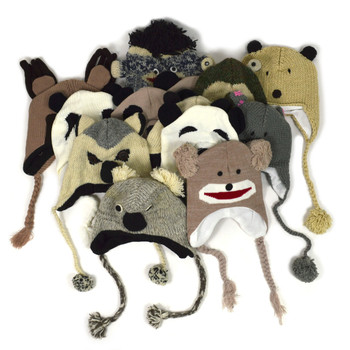 12pc Random Assorted Knit Animal Hats AH12ASST