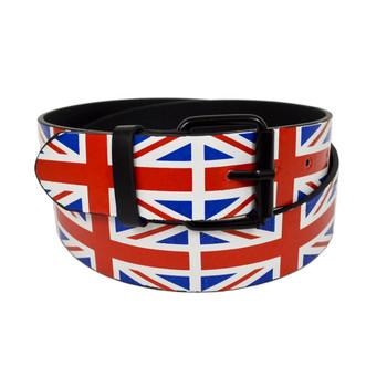 12pc Men's England Flag Buckle Belts