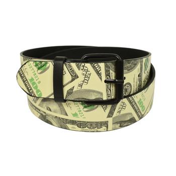 Men's Beige Money Buckle Belts