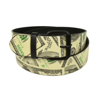 12pc Men's Beige Money Buckle Belts