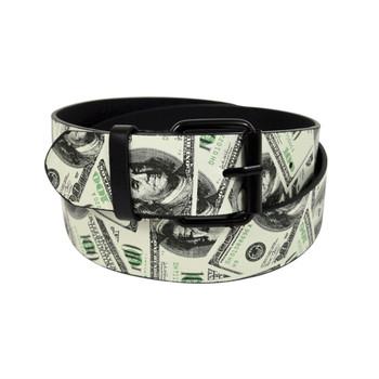 Men's White Money Buckle Belts