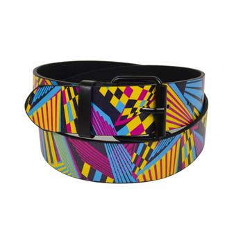 12pc Men's Geometric 3D Pattern Buckle Belts