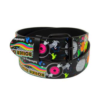 12pc Men's Roller Disco Buckle Belts