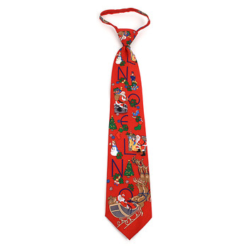 Poly Christmas Zipper Tie PZX4600-RD