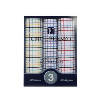 Men's Boxed Fancy Cotton Handkerchiefs 3pcs Set MFB1533