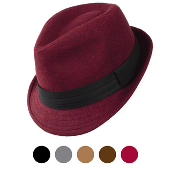 Fall/Winter Poly/Cotton Fedora Hats H10334