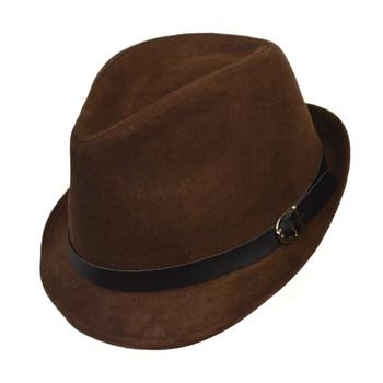 6pc Men's Black Poly/Cotton Westend Fedora Hats