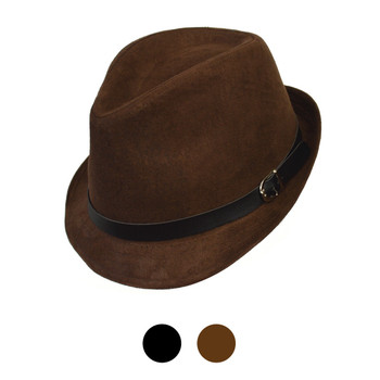 Fall/Winter Poly/Cotton Trilby Fedora Hats H10338