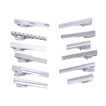 12pc Assorted Slim Tie Bars Set TB1301SLIM