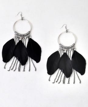 Dangle Earrings Feathers - IME12034