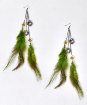 Dangle Earrings Feathers - IME12035
