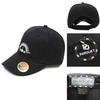 Pilot Black Embroidered Baseball Cap