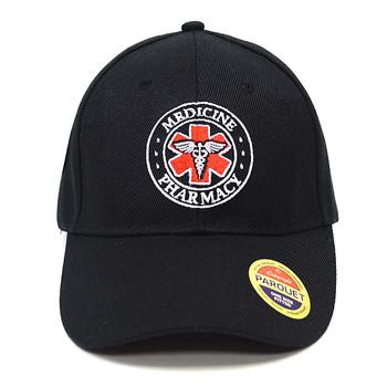 Paramedic Symbol Black Embroidered Baseball Cap