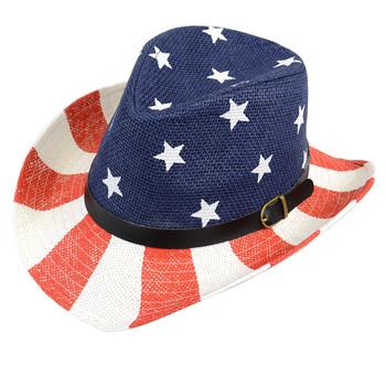 Spring/Summer American Flag Trilby Fedora Hat H10319F