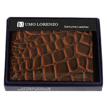 Bi-Fold Genuine Leather Crocodile Wallet MGLW-A36C