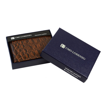 Bi-Fold Genuine Leather Brown Wallet MLCR2448BR